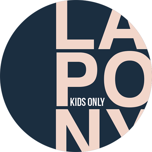 Logo of lapony in blue